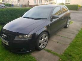 Audi a3 sline black edition.