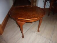 mint, walnut coffee table