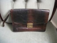Small Brown Leather Messenger's Bag