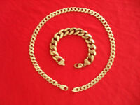 Silver vintage heavy neck chain and bracelet (total weight nearly six ounces).