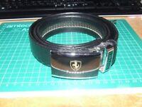 Enamelled Black Ferrari Belt