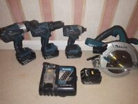 Makita 4pcs set