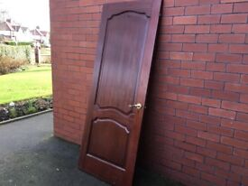 Used solid hardwood internal door in excellent condition