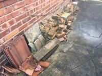 Red reclaimed bricks, varied condition
