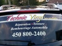 Réparation de cuir ,vinyl réparation des plastique