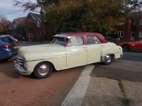 Classic American Car. 1950 Dodge Coronet, fluid drive, semi automatic. Two tone burgandy and cream