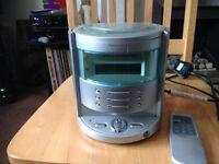Goodmans mini stereo with remote control,. clock/radio/CD