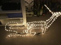 New all boxed Christmas reindeer and sleigh bargain £35 Ono