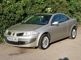 2006 Renault Megane 1.9 dCi FAP Dynamique 2dr CONVERTIBLE CHEAP USED CARS FINANCE AVAILABLE