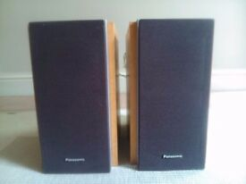 Pair of Panasonic speakers model SB-PM17, 6 ohms 50w in very good condition.
