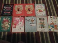 new large sister, daughter, niece, dad, daddy and merry christmas cards 60p or 2 for £1