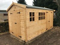 16X7FT HEAVY DUTY APEX GARDEN STORAGE TIMBER T&G SHED.