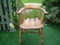 Victorian smokers bow armchair
