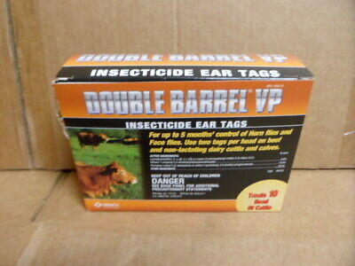Double Barrel VP INSECTICIDE Ear Tags Dairy Calves Bovine - 20 tags for sale  USA