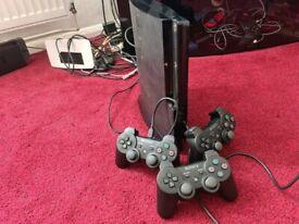 PS3 slim, Massive 1TB, 3 controllers. Optional CFW/Rebug