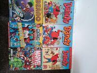 Dandy, Beano,Match Attack,Marvel Annual books