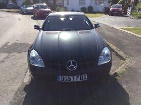 Mercedes 280 SLK, 82,000 miles, Black, Red Leather, Automatic Service History, MOT. 14/07/2018