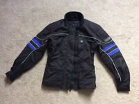 Ladies Motorbike Textile Jacket (S) and Trousers (XS). Frank Thomas brand. Mint condition.