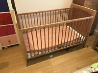 Baby Cot bed - Natural Wood