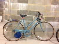 Ladies Vintage Dawes bicycle, new tires. serviced a year ago, rack over the back wheel, three gears