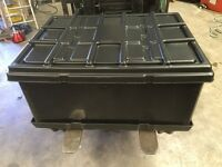 225 Litre Strong Black Industrial/Domestic Plastic Stackable Storage Boxes, Box, Crate