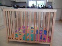 BabyDan Playpen: Beech wood, Dual height