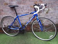 Adults, APOLLO FUSION road bike, 46cm alu frame, 14 gears, 700c wheels. VVGC