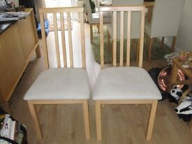 DINING ROOM CHAIRS X 2 £5 FOR THE TWO