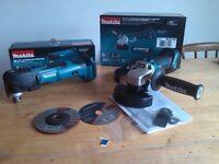 new makita 18v brushless grinder dga454 + new multitool dtm51. dga454z + dtm51z. bare tools