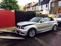 2008 BMW 118I M SPORT Convertible Salvage Damaged Repairable 1 series 3 series