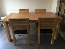 Kitchen dining table (wooden) along with 4 chairs available. 6ft x 3.3