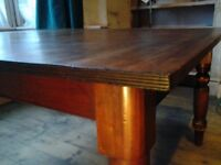 Early Victorian Solid Mahogany Dining Table