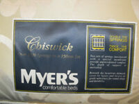 Myer's double mattress, 1000 springs ,cost hundreds ,£70 ONO only been used in guest room,