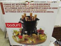 Superb NEW, BOXED and Complete BODUM Nissen Danish FONDUE SET NEW RRP 90.00