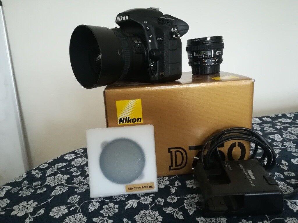 SOLD) Nikon Camera D750 DSLR FX (full frame) + Nikkor 50 mm 1.8G + ...