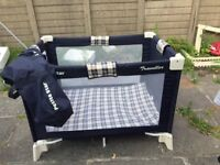 Useful Petite Star Travel Cot & Playpen with Carry Bag - Excellent Condition