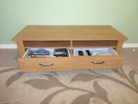 teak affect tv unit in very good condition from a smoke free home