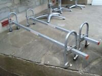 HEAVY DUTY SMALL VAN ROOF BARS WITH FITTINGS COST £85 QUICK SALE ONLY £20