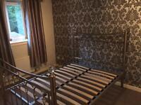 Luxury metal bed frame