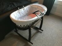Stars and stripes moses basket