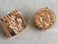 Copper mounds/plaques