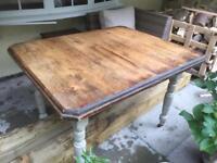 Oak Victorian kitchen / dining table.