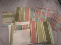 Curtains and 2 x double bed sets