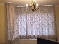 Songbird Duck-egg lined pencil curtains