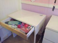Kids Bedroom Desk white