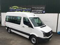 2012 VW CRAFTER MINIBUS 10 SEATS WITH WHEEL CHAIR LIFT *£199 PER MONTH*