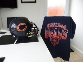 Chicago bears helmet & t Shirt