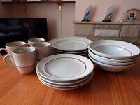 12 Piece Dinner Set and 4 Mugs
