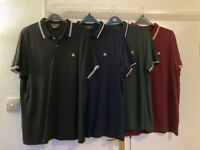 Four large size 'Admiral' polo shirts. Hardly used, one with new £16 tag. £4 each, or 4 for £12