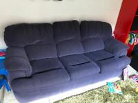 Sofa and reclining chair
